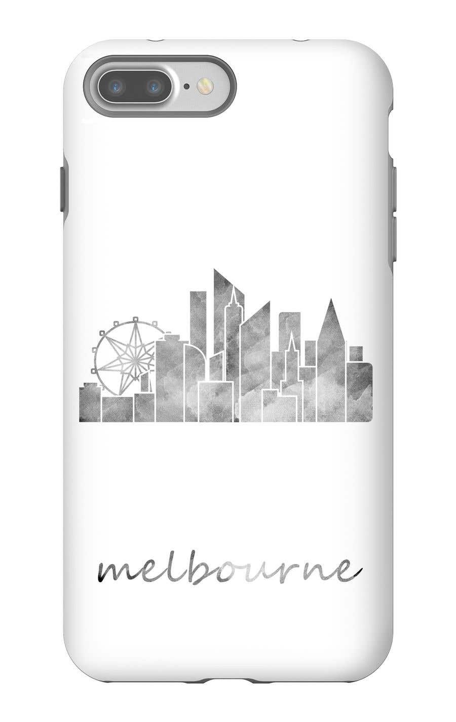 Konkurrenceindlæg #12 for Design a phone case with a minimal skyline of a famous city.