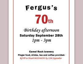 #7 для 70th birthday invite від JunaidFatyana