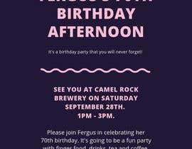 #14 для 70th birthday invite від mariamabdelhamed
