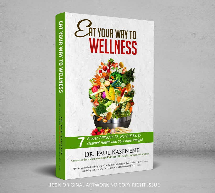 Proposition n°31 du concours Book cover design for a healthy eating book