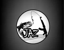 #7 for J-JAZ    Logo design /looking for the J to be like a sharp fish hook & if you can add a machine gun (maybe bend the machine gun to the shape of J) high quality logo.  black and white colors (black and white camouflage) by towhidrev