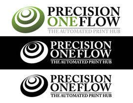 Kalhoon님에 의한 Logo Design for Precision OneFlow the automated print hub을(를) 위한 #103