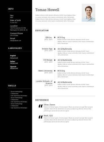 Penyertaan Peraduan #23 untuk design resume (simple)