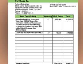 #19 para Build me a purchase order format with GST and HNS Details por mdrahad114