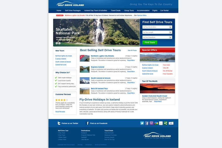Penyertaan Peraduan #                                        24                                      untuk                                         Website Design for Iceland self-drive tours
