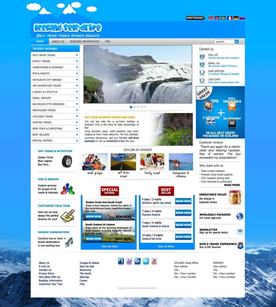 Penyertaan Peraduan #                                        10                                      untuk                                         Website Design for Iceland self-drive tours