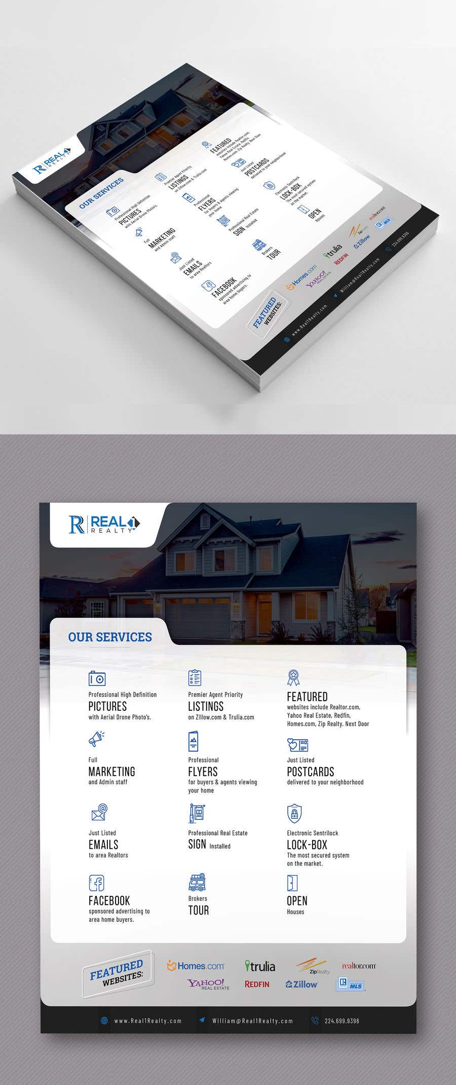 Bài tham dự cuộc thi #100 cho Custom one page Professional Brochure for Real Estate Company