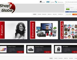 #4 for Landigpagedesign for shop-globe.com af hirusanth