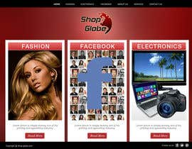 #7 for Landigpagedesign for shop-globe.com by vijayadesign