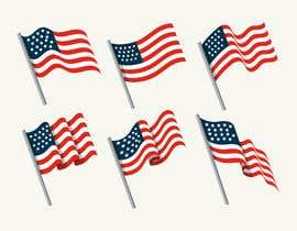 #54 untuk United State Of America flag oleh sajeebhasan177