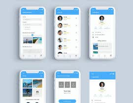 nº 9 pour Create a UI / visual design for a mobile + web interface for a sailing app UI par mohammadmusaddek