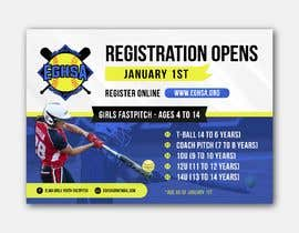 #14 cho Softball Registration Sign Design bởi bartolomeo1