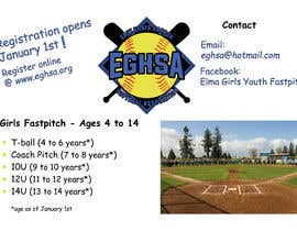 #12 cho Softball Registration Sign Design bởi jessikahelping
