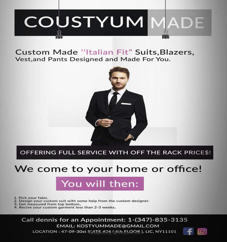 Penyertaan Peraduan #7 untuk Poster Design - Custom Suits