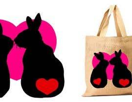 #132 untuk Rabbit Themed Hemp Shopper Bags oleh junthipamo