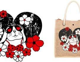 #211 untuk Rabbit Themed Hemp Shopper Bags oleh junthipamo