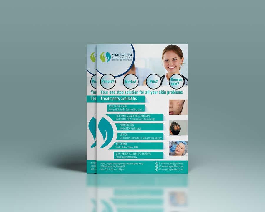 Bài tham dự cuộc thi #24 cho Design a flyer for dermatology clinic