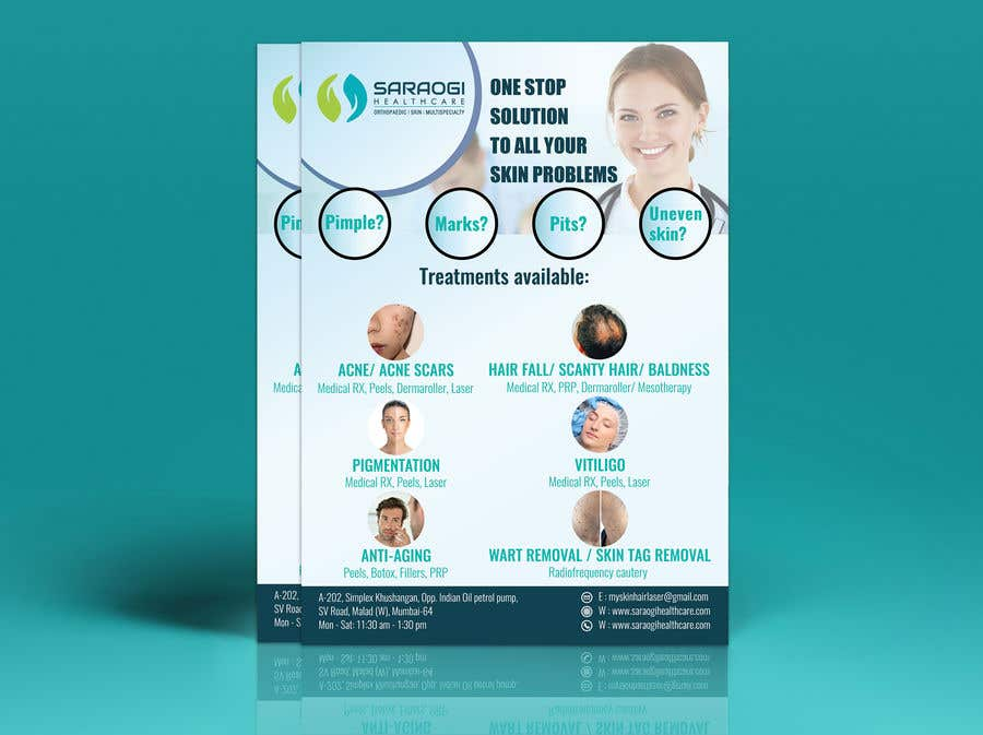 Bài tham dự cuộc thi #55 cho Design a flyer for dermatology clinic