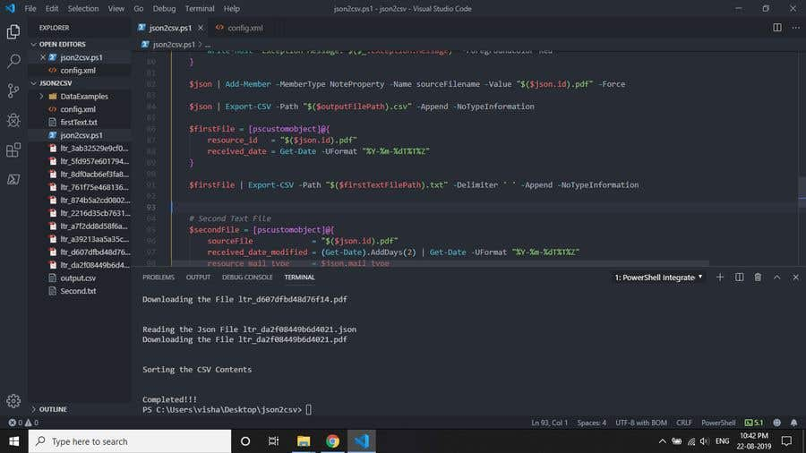 Entry #3 by vishaakm for PowerShell script(s) -- Contest