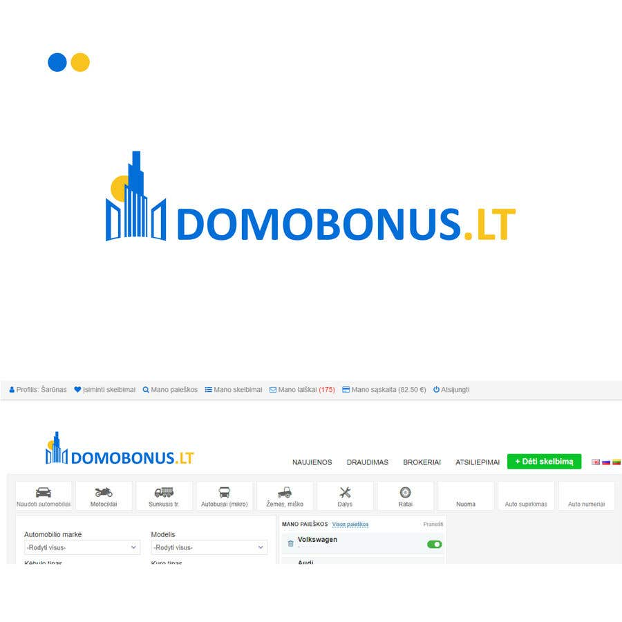 Contest Entry #14 for Domobonus.lt logo