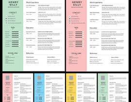 #12 para Redesign Resume / CV (Content Ready) - Only Design Template Needed por asmish