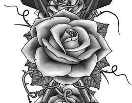 #20 cho Darts and Roses Tattoo Illustration bởi Lianji