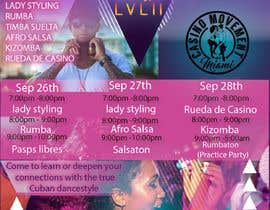 #139 untuk Flyers for A Dancing workshop special event and practice party in miami oleh Irfanandalin2986