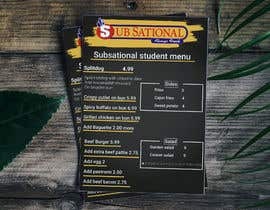 #7 для I need menu for 8.5 by 11  With my logo on top and it should say subsational student menu от Rifat4146