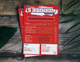 #11 untuk I need menu for 8.5 by 11  With my logo on top and it should say subsational student menu oleh ZahirAlif