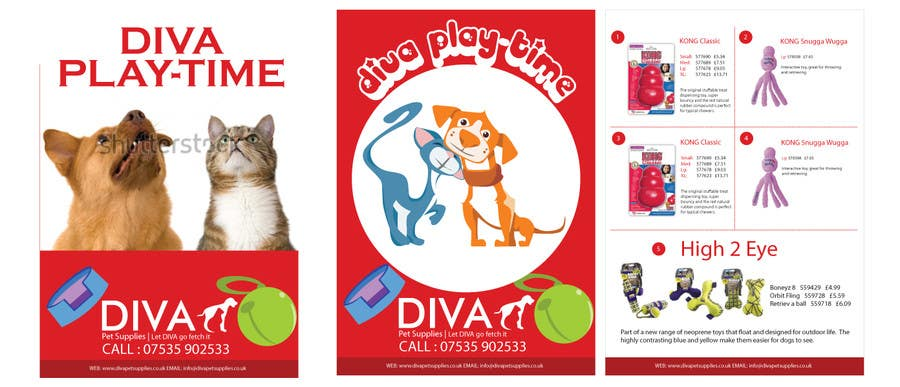 Konkurrenceindlæg #                                        23                                      for                                         Stationery Design for Diva Pet Supplies