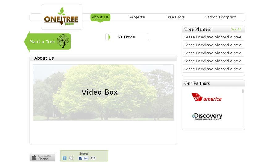 Contest Entry #107 for Website Design for 1 Tree Planted