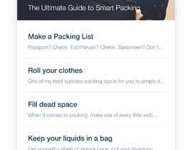 nº 2 pour Travel Checklist: UI design for mobile app par GhadaGamalShebl