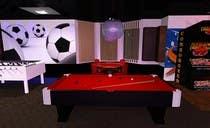 Basement Planing and Interior Design için 3D Modelling37 No.lu Yarışma Girdisi
