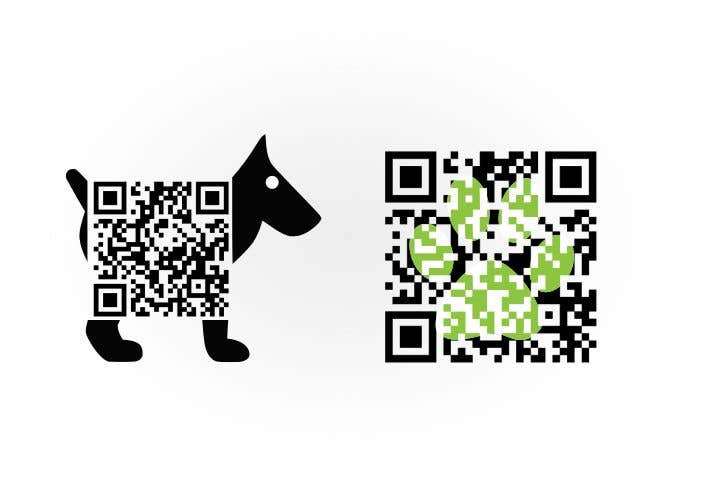 Contest Entry #                                        15                                      for                                         Design two creative and functional qr-codes for marketing the dog friendly guide BringTheDog.se