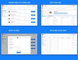 #32 cho Create a Fantasy Football UI Mockup of 2 Screens bởi RoyalEffects