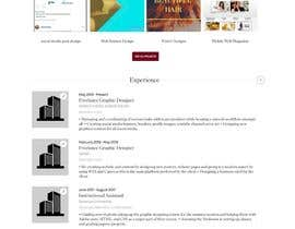 #68 for Design the ultimate profile page for Freelancer.com! by NidhiS99