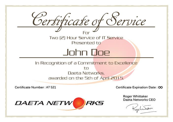 contest entry 6 for design a simple certificate for free it service