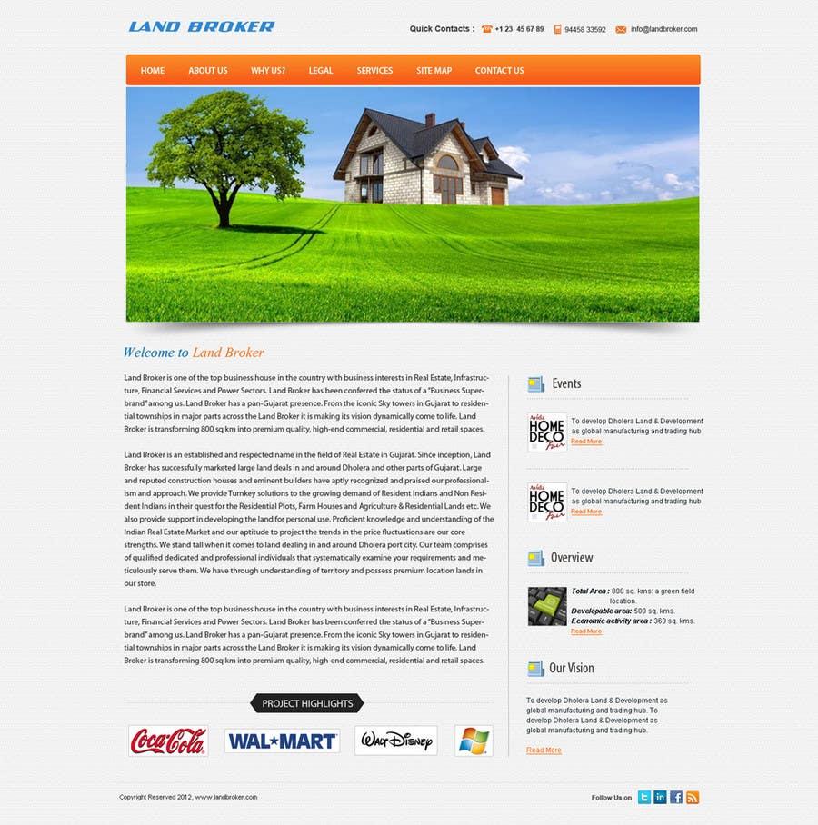 Proposition n°                                        6                                      du concours                                         Website Design for land broker