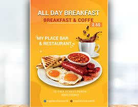 "dilepgh tarafından Poster design for ""Breakfast menu + coffee for $2.5"" için no 25"