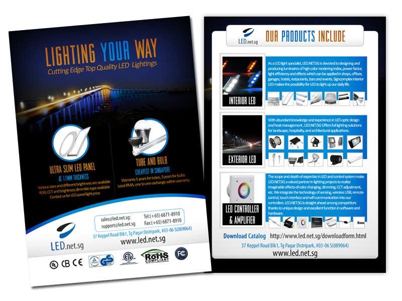 Kilpailutyö #                                        15                                      kilpailussa                                         Advertisement Design for LED lighting products.