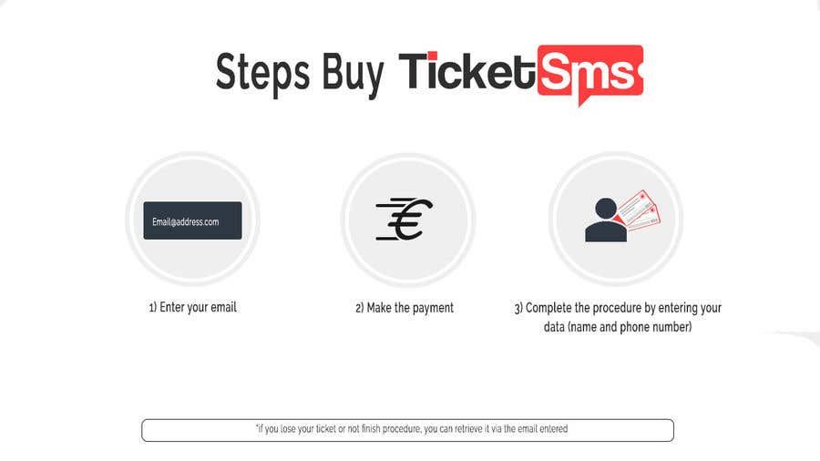 Contest Entry #62 for Create Illustration about method for buy a ticket