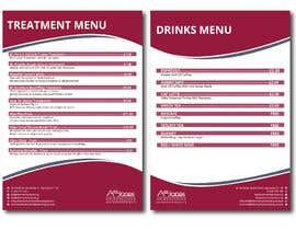 """Nro 7 kilpailuun Create a double sided """"Treatment"""" & """"Drinks"""" menu käyttäjältä FALL3N0005000"""