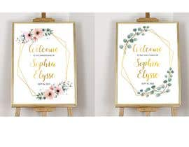nº 35 pour Editable, Printable, Welcome Sign par Suzenchong