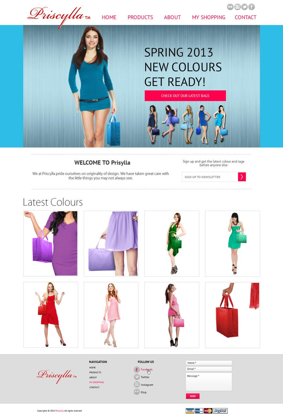 #3 for Website Design for Women's Tote Bags by Alexw1