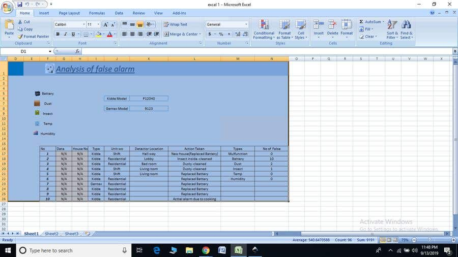 Proposition n°11 du concours Creating Excel templates for smart tracking