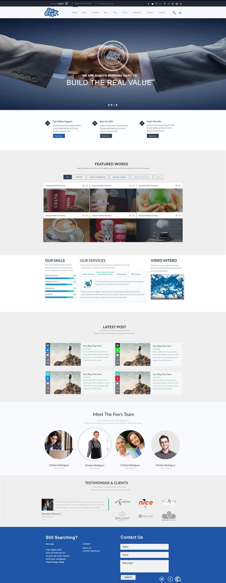 Bài tham dự cuộc thi #27 cho Redesign our main web page
