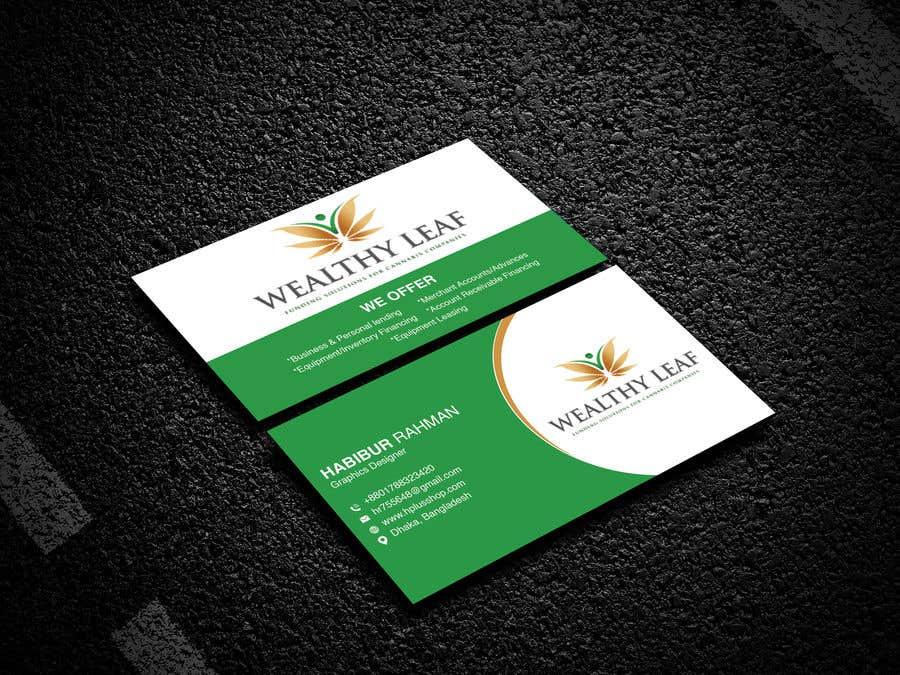 Proposition n°70 du concours Wealthy Leaf needs business cards