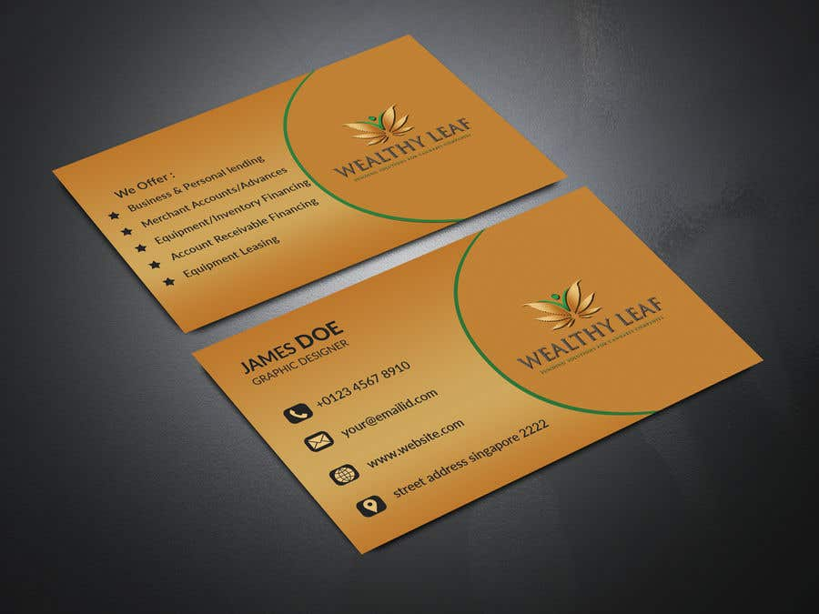 Proposition n°259 du concours Wealthy Leaf needs business cards