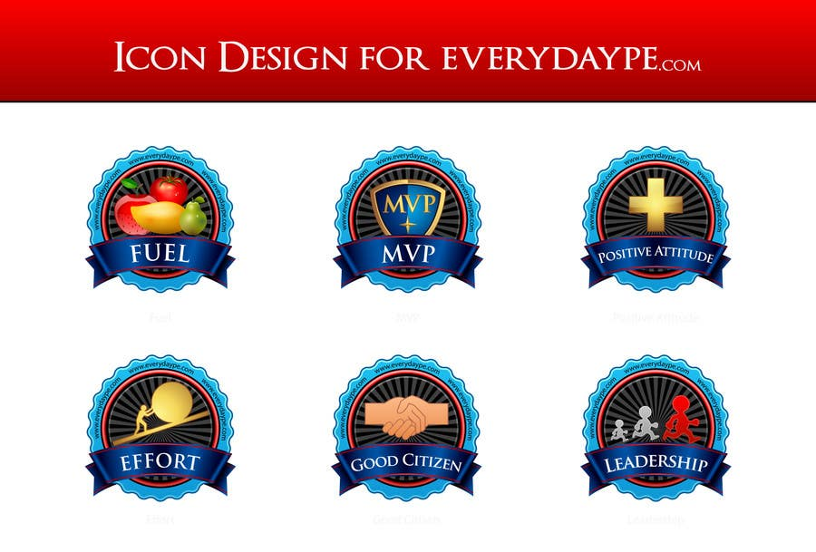 #15 for Icon or Button Design for www.everydaype.com by raikulung