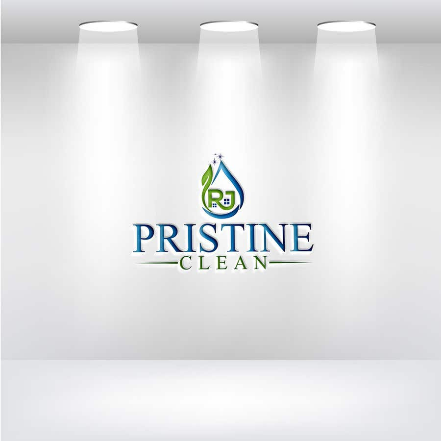 Конкурсная заявка №88 для I need a logo designed for a commercial cleaning company.  RJ Pristine Clean is the name of the company. I want something professional and catchy.